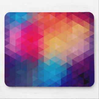 Colorful Modern Mosaic Geometric Pattern Mouse Pad