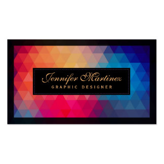 Colorful Modern Mosaic Geometric Pattern Pack Of Standard Business Cards