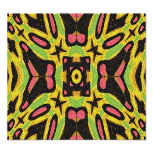 Colorful modern pattern photograph