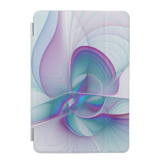 Colorful Modern Pink Blue Turquoise Fractal Art iPad Mini Cover