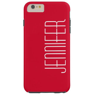 Colorful Modern Red Personalized Jumbo Name Tough iPhone 6 Plus Case