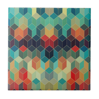 Colorful Modern Seamless Cubes Geometric Pattern Tile