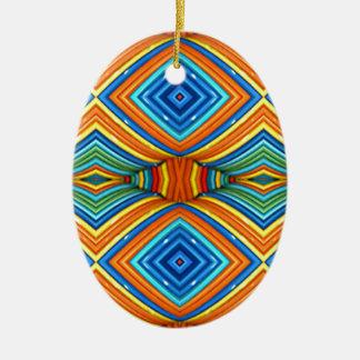 Colorful Modern Southwest Pattern Christmas Ornament