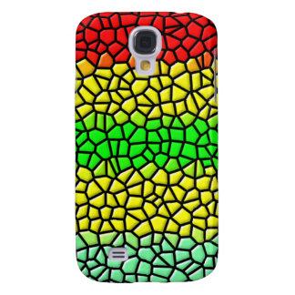 colorful modern stained glass galaxy s4 case