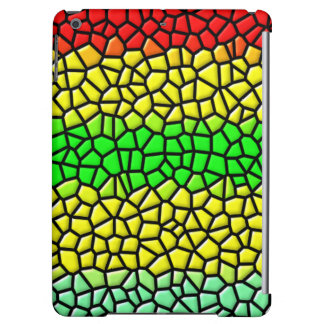 colorful modern stained glass iPad air case
