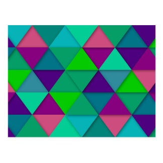 Colorful Modern Triangles Mosiac Postcard