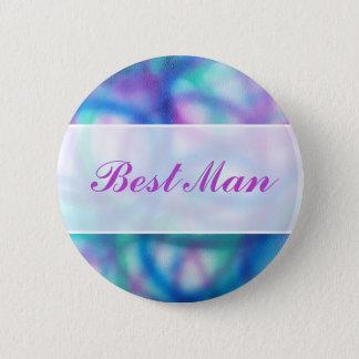 Colorful Modern Wedding. Best Man 6 Cm Round Badge