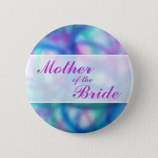 Colorful Modern Wedding. Mother of the Bride 6 Cm Round Badge