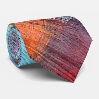 Colorful Modern Wood Grain Background Tie