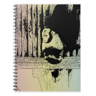 Colorful Monkey Illustration - POP-ART Spiral Notebook