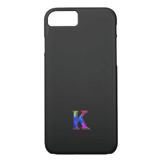 Colorful Monogram iPhone 7 cover