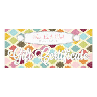 Colorful Moroccan Quatrefoil - Gift Certificate Rack Card