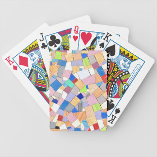 Colorful mosaic bicycle playing cards