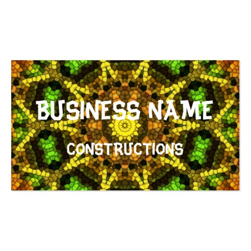 Colorful Mosaic Business Card Templates