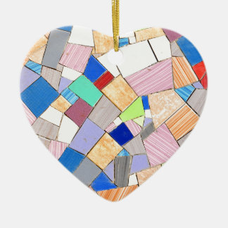Colorful mosaic ceramic heart decoration