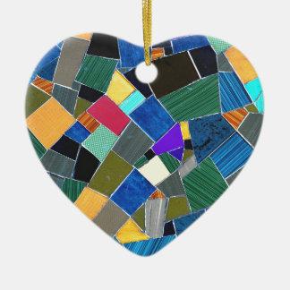Colorful mosaic christmas ornament