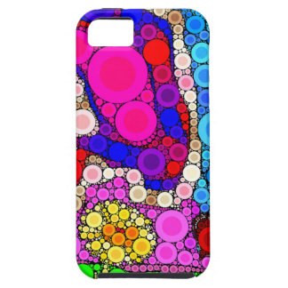 Colorful Mosaic Concentric Circles iPhone 5 Case