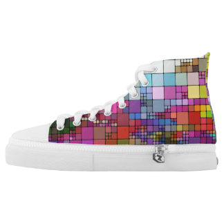 Colorful Mosaic Design Printed Shoes