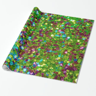 Colorful Mosaic Glitter Wrapping Paper