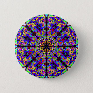 Colorful Mosaïc Mandala 6 Cm Round Badge
