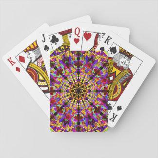 Colorful Mosaïc Mandala Playing Cards