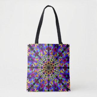 Colorful Mosaic Mandala Tote Bag