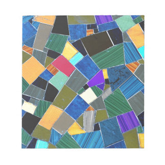 Colorful mosaic notepad