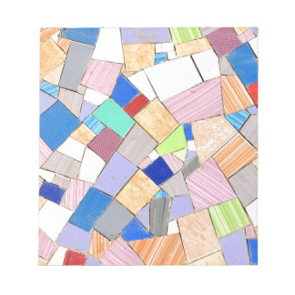 Colorful mosaic notepads