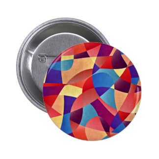 Colorful Mosaic Pattern 6 Cm Round Badge