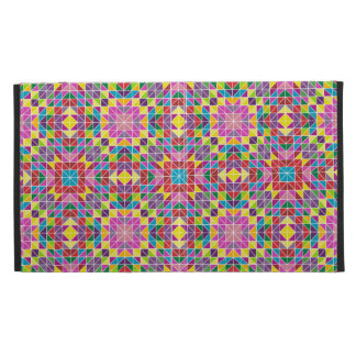 Colorful mosaic pattern iPad folio cases