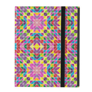 Colorful mosaic pattern iPad folio cover