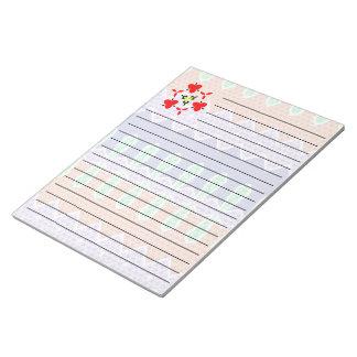 Colorful mosaic pattern notepad