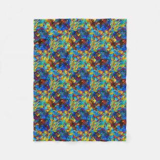Colorful mosaic peace symbol fleece blanket