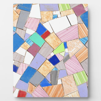 Colorful mosaic plaque