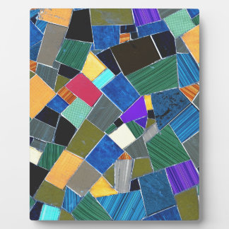 Colorful mosaic plaques