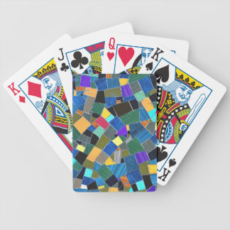 Colorful mosaic poker deck