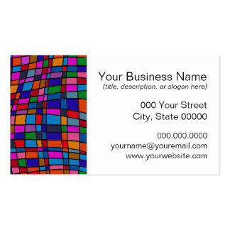 Colorful Mosaic Tiles Pattern Pack Of Standard Business Cards