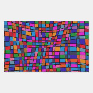 Colorful Mosaic Tiles Pattern Sticker