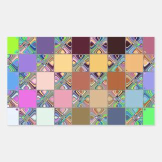 Colorful Mosaic Tiles Rectangular Sticker