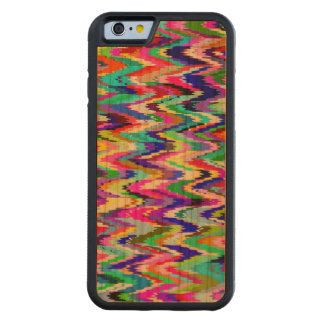 Colorful Mosaic Wave Pattern #11 Carved Cherry iPhone 6 Bumper Case