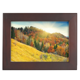Colorful mountain autumn landscape keepsake box