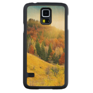 Colorful mountain autumn landscape maple galaxy s5 slim case