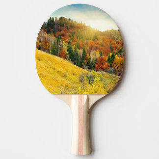 Colorful mountain autumn landscape ping pong paddle