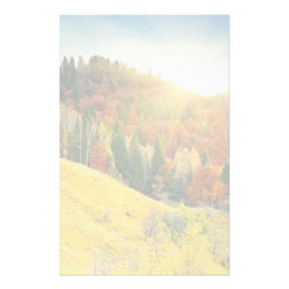 Colorful mountain autumn landscape stationery