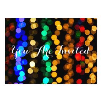 Colorful Multi Colored Lights 13 Cm X 18 Cm Invitation Card