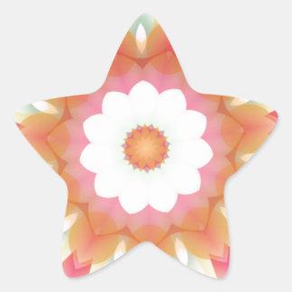 Colorful Multi-layered Flower Kaleidoscope Star Sticker