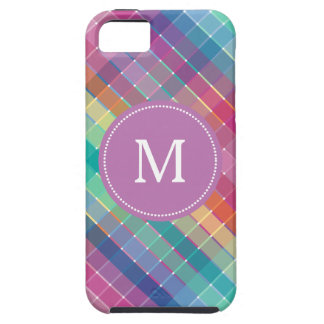 Colorful Multicolor Rainbow Crosshatch iPhone 5 Case