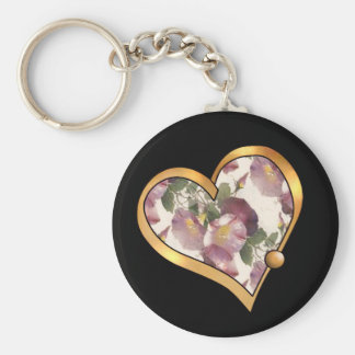 Colorful multicolor repeat patterns basic round button key ring