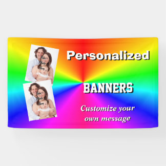 Colorful multicolored bright rainbow banner