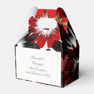 Colorful multicolored orange flowers wedding favour box
